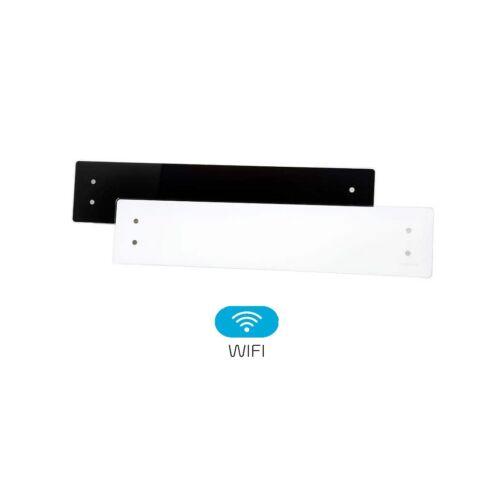 Elektromos fűtés ADAX CLEA WIFI CLW10 22 cm magas üveg felületű fűtőpanel 1000W két színben