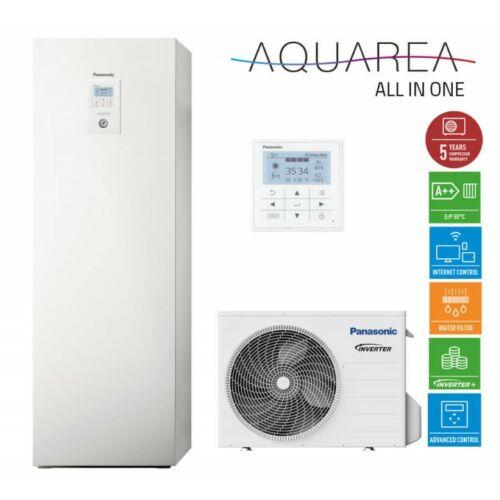 """Panasonic AQUAREA """"All in one"""" KIT-ADC03HE5 osztott kivitelű levegő-víz hőszivattyú 1 fázisú, 200 literes HMV tartály a beltéri egységben"""