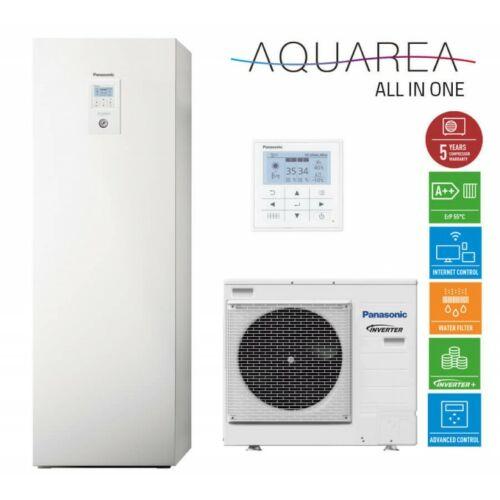 """Panasonic AQUAREA """"All in one"""" KIT-ADC07HE5 osztott kivitelű levegő-víz hőszivattyú 1 fázisú, 200 literes HMV tartály a beltéri egységben"""