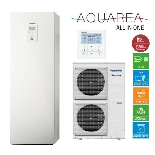 """Panasonic AQUAREA """"All in one"""" KIT-ADC12HE5 osztott kivitelű levegő-víz hőszivattyú 1 fázisú, 200 literes HMV tartály a beltéri egységben"""