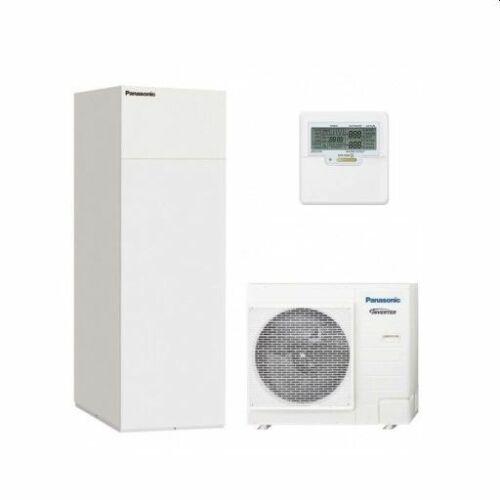 """Panasonic AQUAREA """"All in one"""" KIT-ADC12HE8 osztott kivitelű levegő-víz hőszivattyú 3 fázisú, 200 literes HMV tartály a beltéri egységben"""