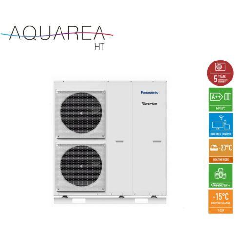 Panasonic AQUAREA WH-MHF12G6E5 mono-block HT kivitelű magas hőmérsékletű előremenővel levegő-víz hőszivattyú - csak fűtő